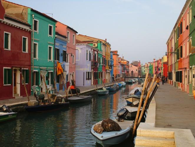 Burano eiland bij Venetie