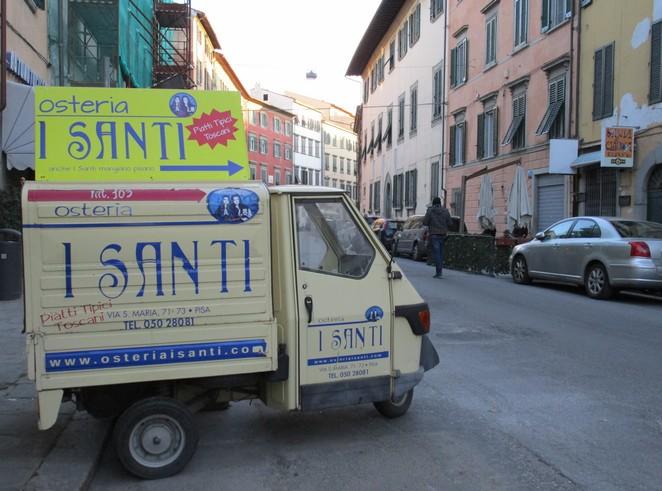 Verwijzing naar restaurant Osteria I Santi