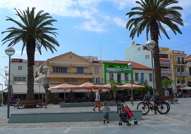 Samos-stad-kinderen