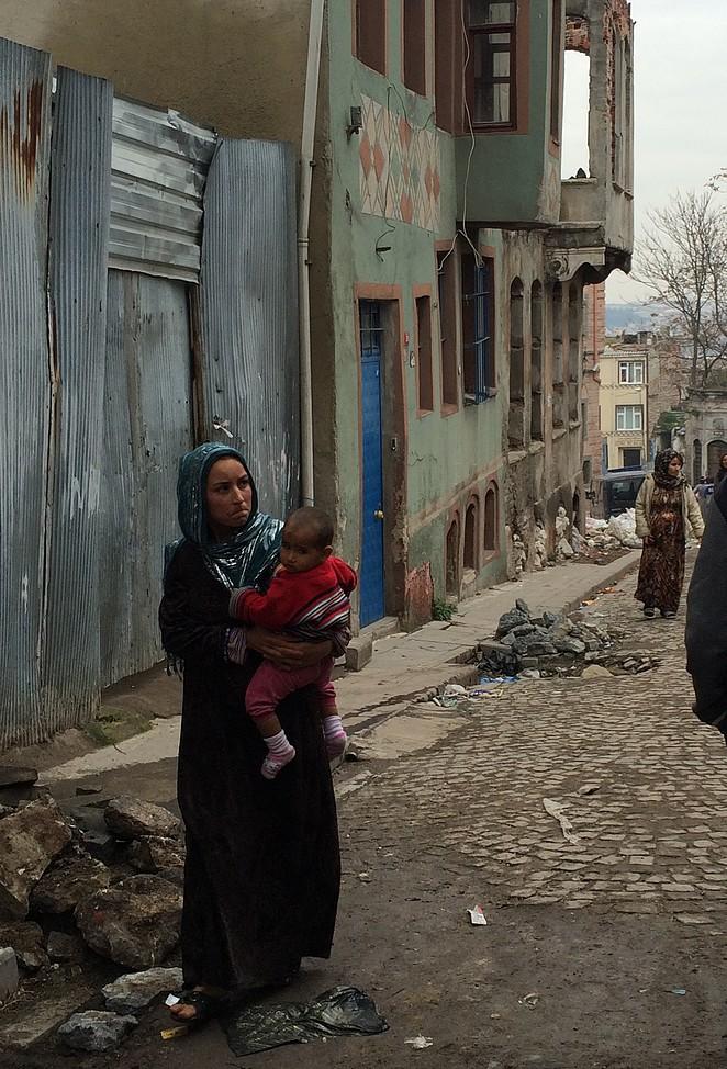 Vrouw met baby Syrische vluchteling