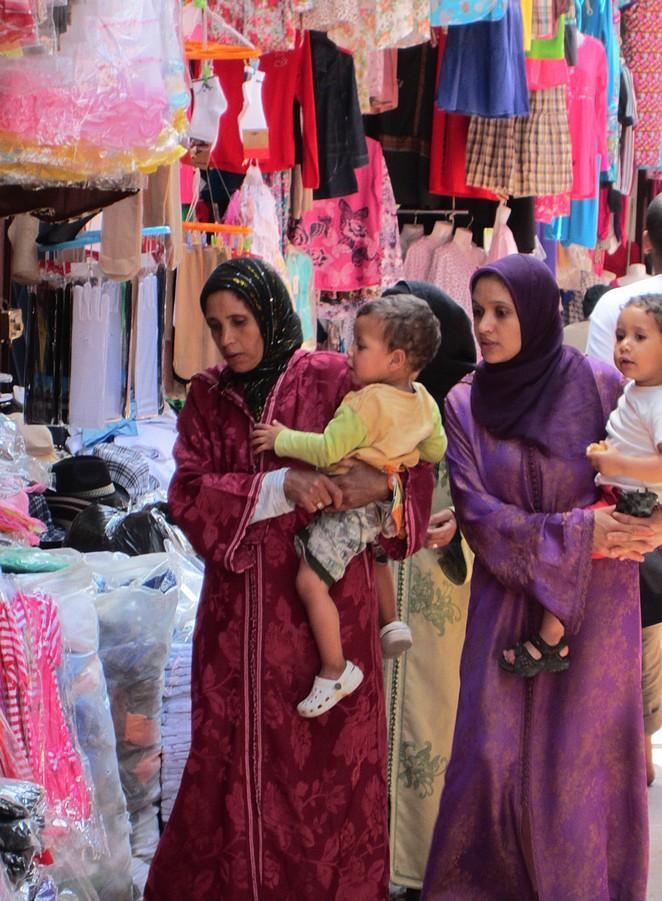 Vrouwen op de markt in Marokko