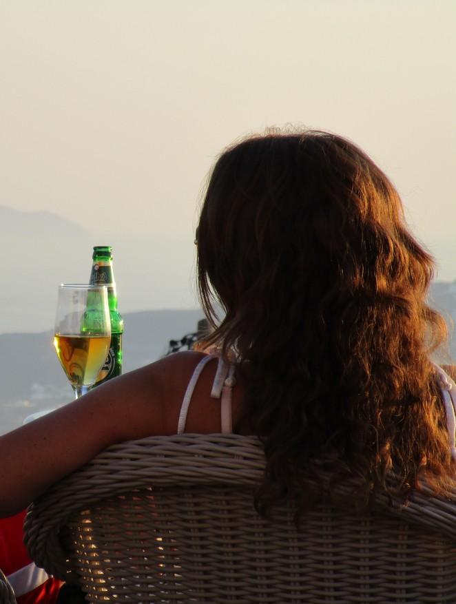 Westerse vrouw op Grieks eiland