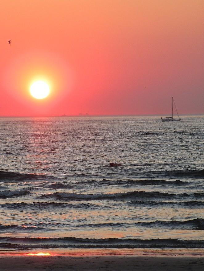 bootje-zonsondergang