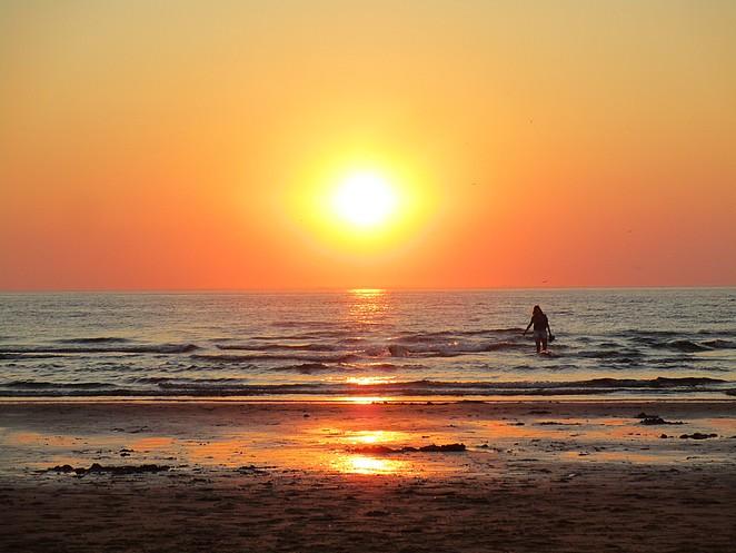 zonsondergang-zee