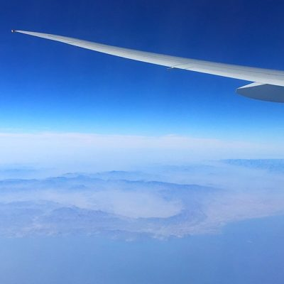 Oman vanuit het vliegtuig