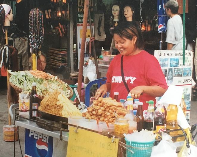 Pad thai khao san vroeger
