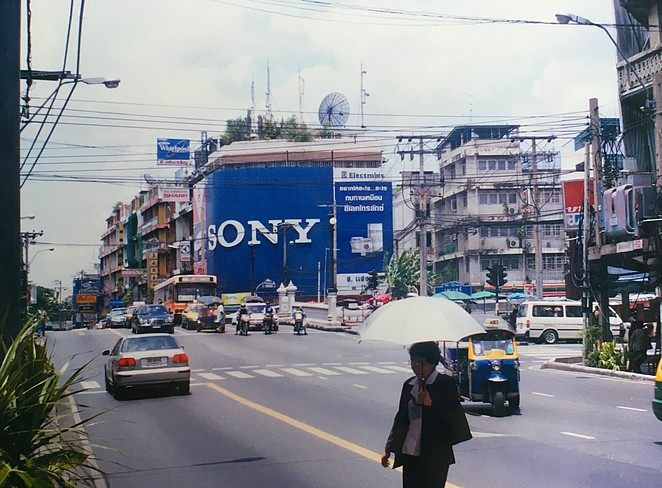 Straatbeeld Bangkok 15 jaar geleden