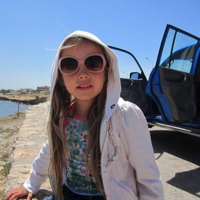Jeeptocht met kinderen in Tunesië