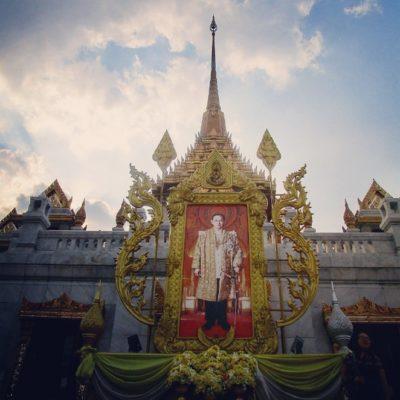 Crematie van Bhumibol in Bangkok