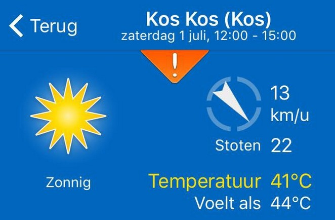 temperatuur azoren in juli