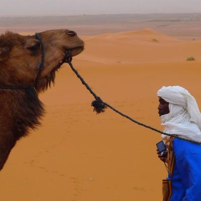 Zandstorm in de Sahara