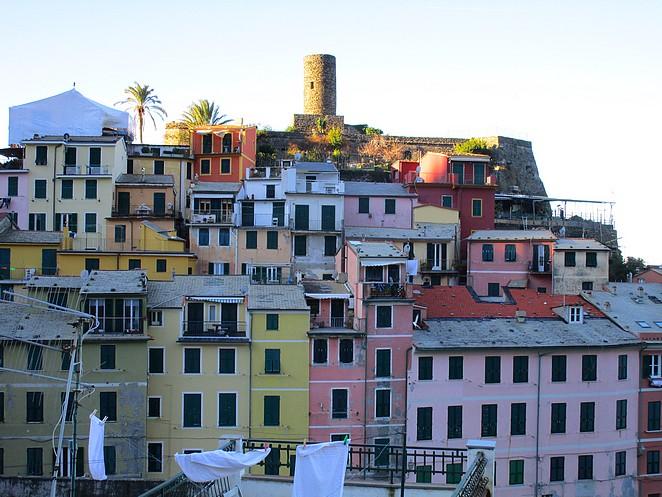 Vernazza gekleurde huizen