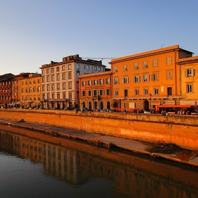 Golden hour in Pisa