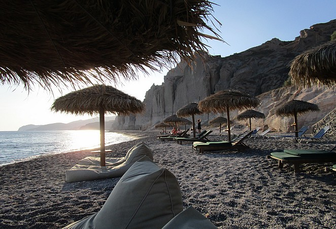 Eros Beach Santorini Cycladen