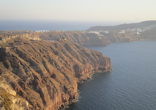 Het zuiden van Santorini
