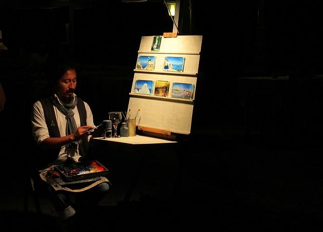 Kunstenaar boulevard Kamari