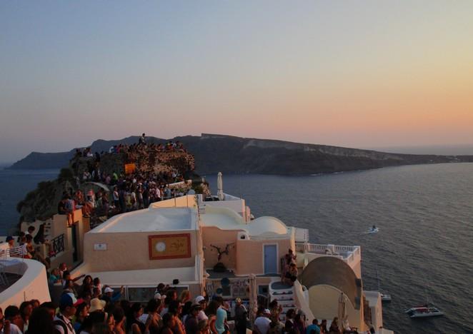 Sunset Santorini Zonsondergang Oia