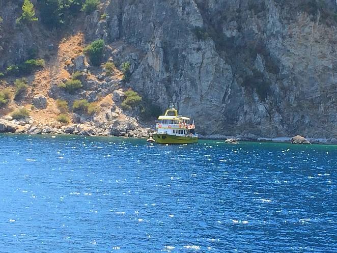 helderblauwe zee Turkije