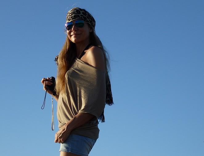 Denise in de duinen van Maspalomas