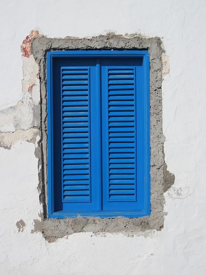 Blauwe luiken Canarische eilanden