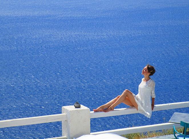 Bruid op Santorini