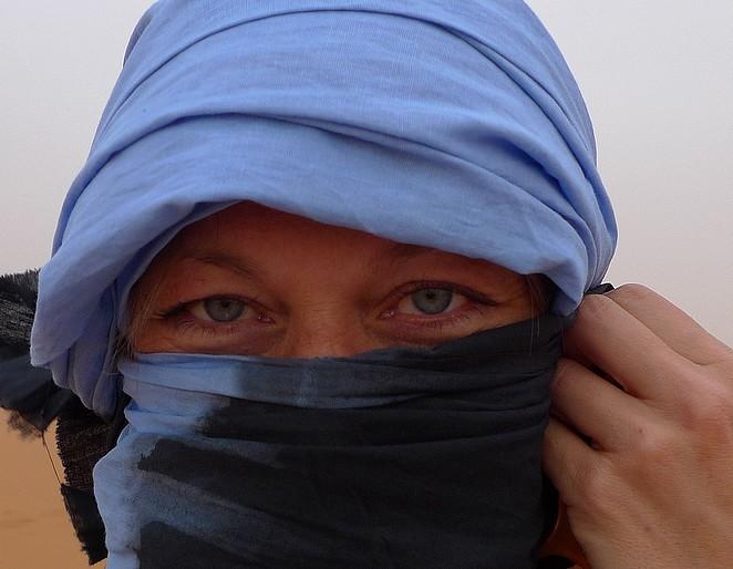 Denise zandstorm Sahara