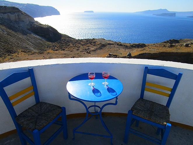 Fijn plekje op Santorini