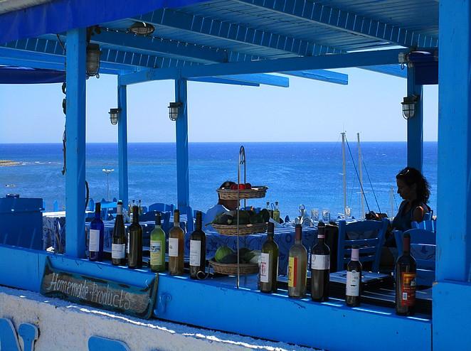 Lunch op Santorini