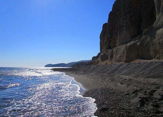 Mooi strand Santorini