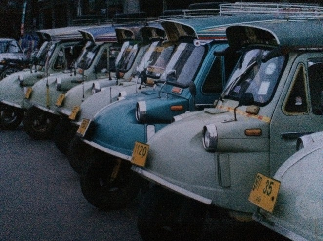 Vervoer Thailand bij Trang oude foto