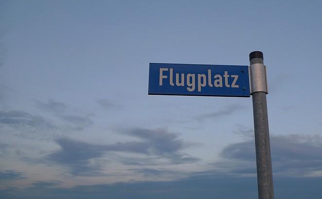 Vliegveld in Duitsland Flugplatz