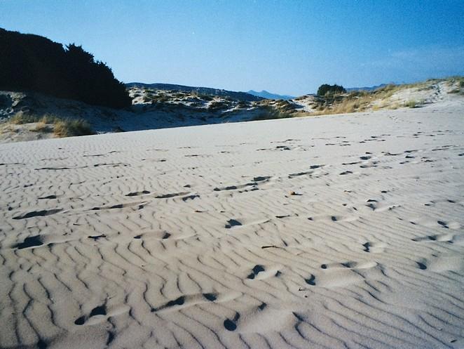 Sardinie-footprints-zand