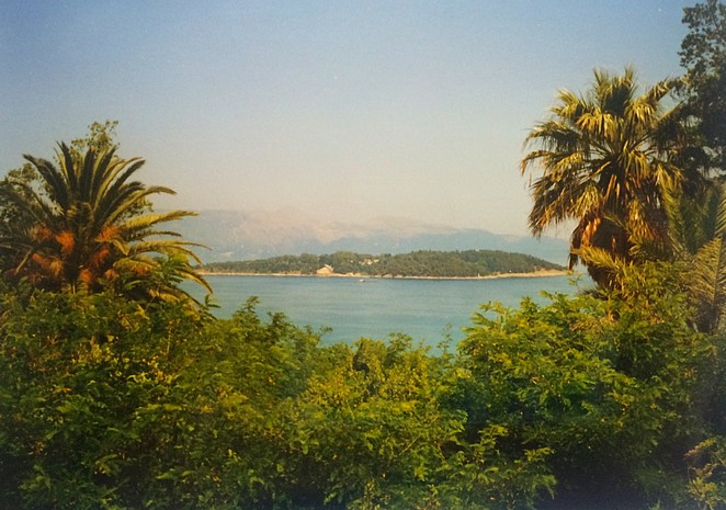 Corfu zicht op vasteland Griekenland