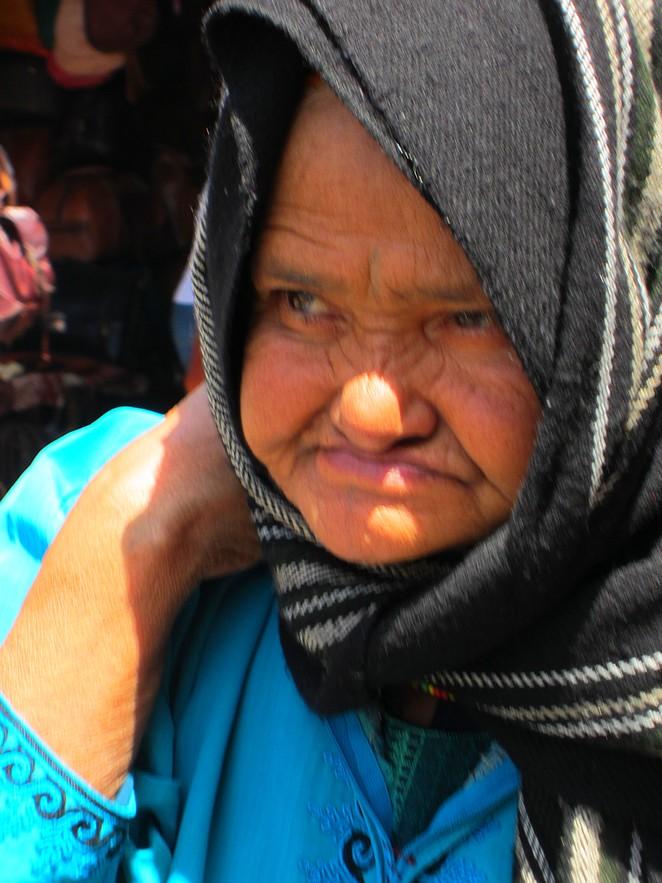 Oude vrouw Marokko