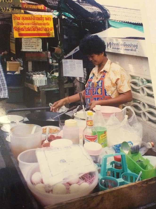 Thais eten op straat