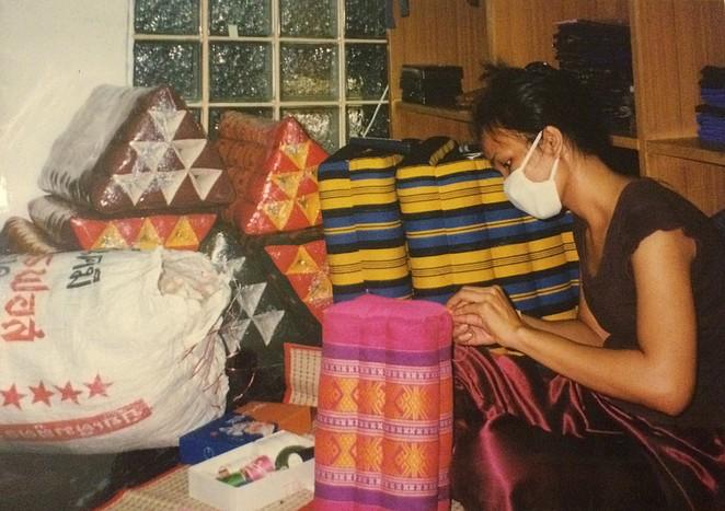 Thaise kussens driehoekig