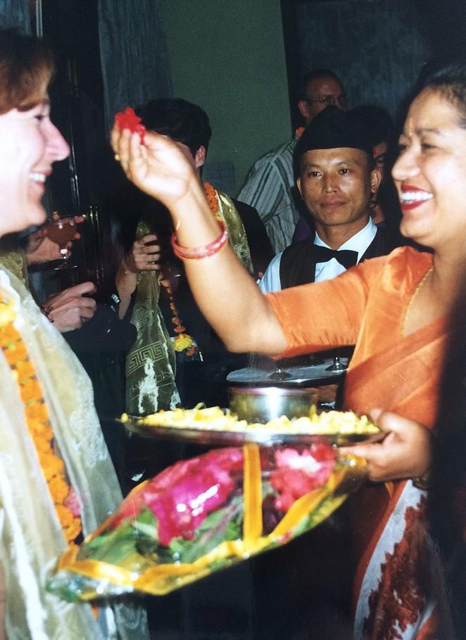 Welkomstceremonie Nepal