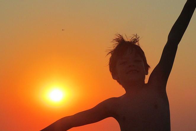 zonsondergang-kinderen