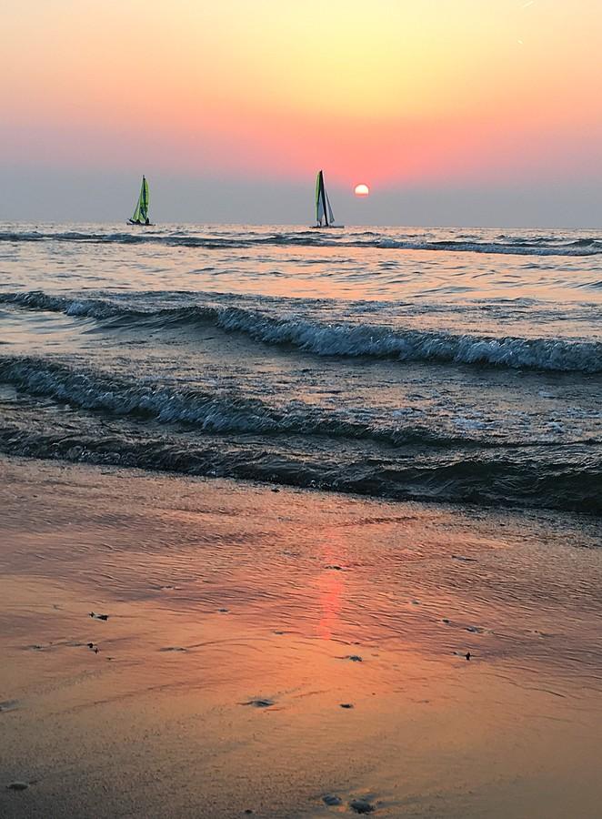 zonsondergang-zuiderstrand