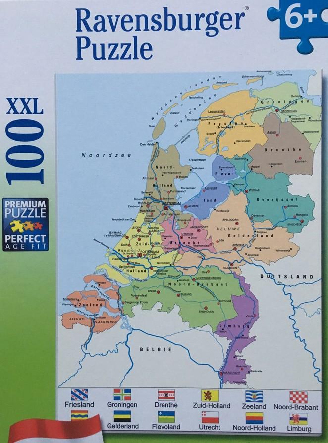 Puzzel provincies-steden-Nederland