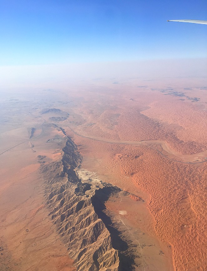 Vliegen-boven-Sharjah