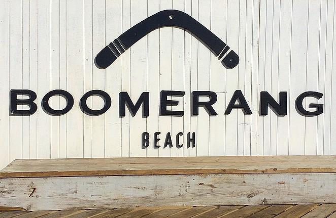 Boomerang-strandtent