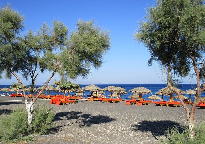 Strandbedjes-Santorini