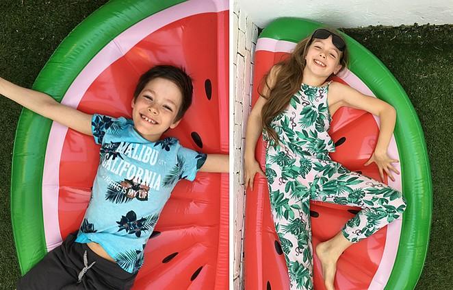 watermeloen-luchtbed
