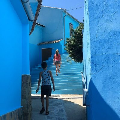 Júzcar, een mooi blauw dorp in Spanje