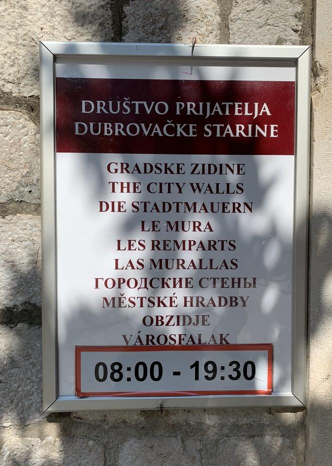 openingstijden-stadsmuur-dubrovnik