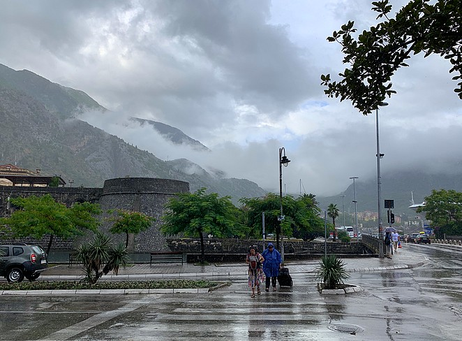 reizen in de regen