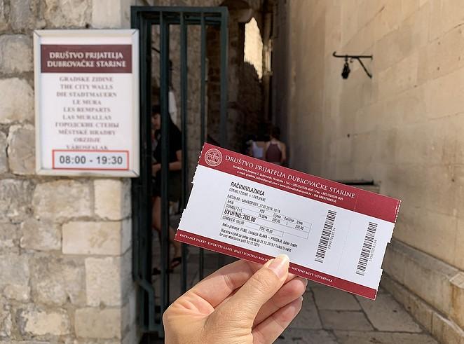 ticket-stadsmuur-dubrovnik