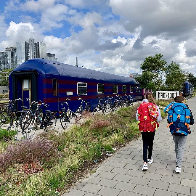 Train Lodge hostel in Amsterdam: slapen in een oude nachttrein
