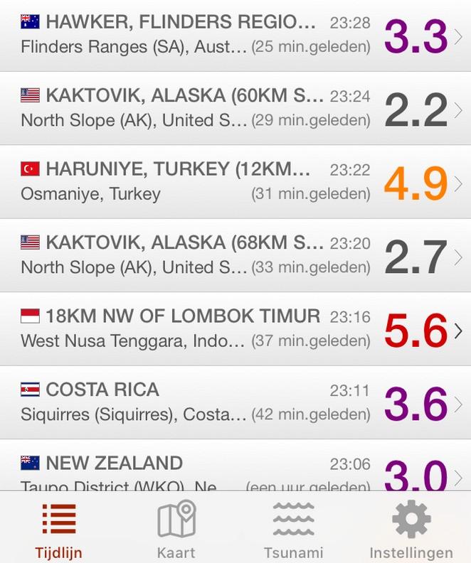 aardbevingenapp